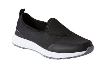 King Gee Women's Superlite Neo Slip On Shoe (Black, Size 5)