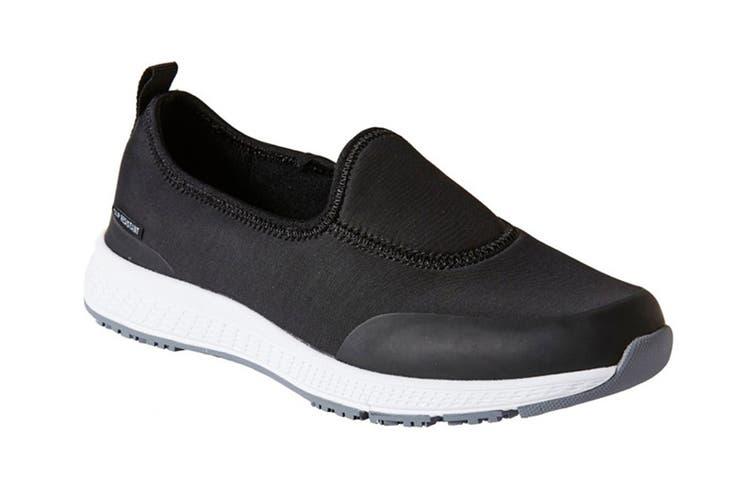 King Gee Women's Superlite Neo Slip On Shoe (Black, Size 5)