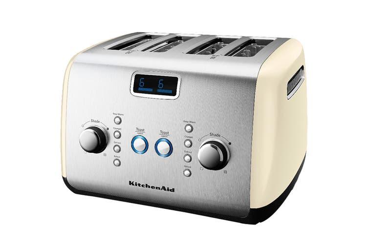 KitchenAid 4 Slice Toaster - Almond Cream (5AKMT423AC)