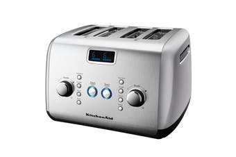 KitchenAid 4 Slice Toaster - Silver (5AKMT423CU)