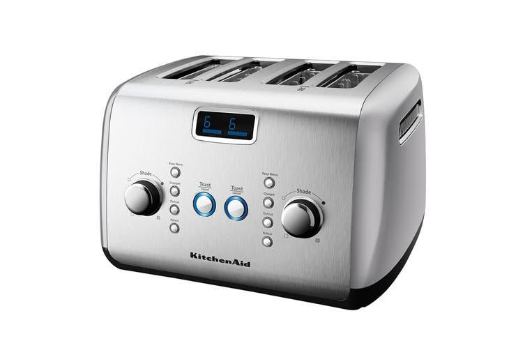 KitchenAid 4 Slice Toaster - Silver (5AKMT423CU)