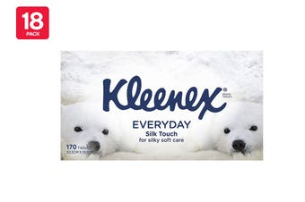 Kleenex Facial Tissues Everyday Mixed (18 x 170 Pack)