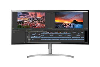 "LG 38"" 21:9 3840x1600 WQHD+ Curved Ultrawide HDR IPS LED Monitor with FreeSync (38WK95C)"