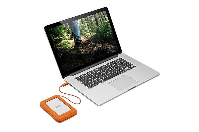 LaCie 1TB SSD Rugged Thunderbolt & USB-C Portable Drive (STFS1000401)