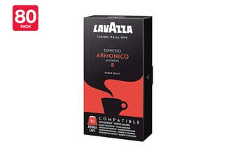 Lavazza Nespresso Compatible Armonico Coffee Capsules - 80 Pack (8 Packs of 10)