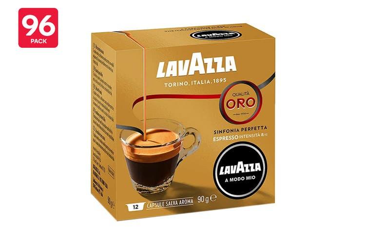 Lavazza A Modo Mio Qualità Oro Coffee Capsules - 96 Pack (8 Packs of 12)