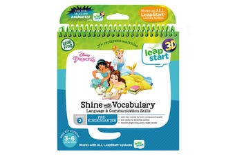 LeapFrog LeapStart book Disney Princesses Shine with Vocabulary - 3D Enhanced