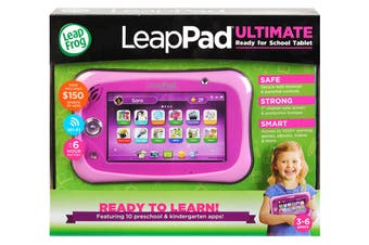 LeapFrog LeapPad Ultimate with Get Ready for School Bundle (Pink)