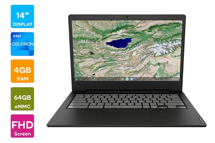 "Lenovo Chromebook S340 14"" FHD (N4000, 4GB RAM, 64GB eMMC, Onyx Black) - Australian Model"