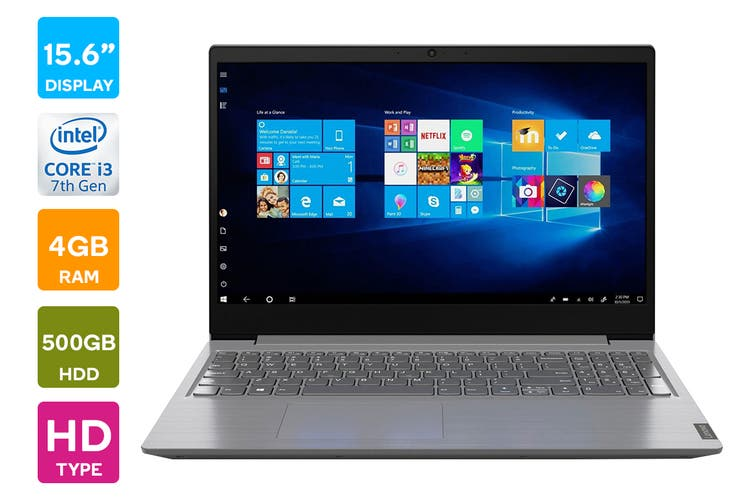 "Lenovo Ideapad V15 15.6"" Core i3-8145U 4GB RAM 500GB HDD Win10 Home Laptop (81YE009QAU)"