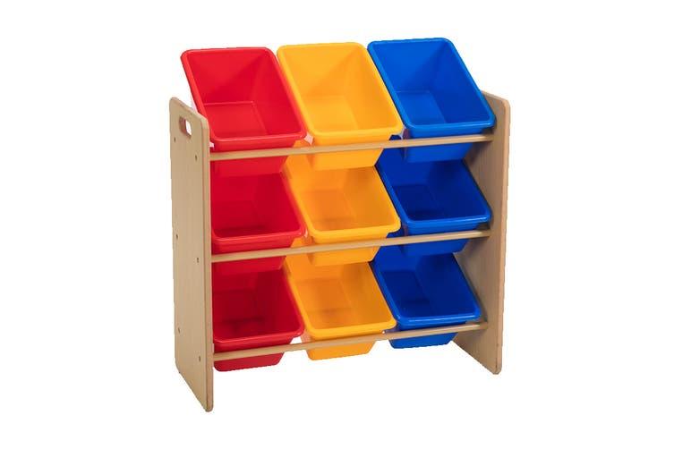 Lenoxx Kids Shelf Storage with 9 Bins