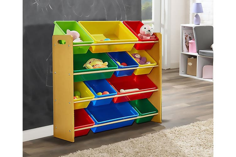 Lenoxx Kids Shelf Storage with 12 Bins
