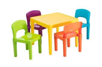 Lenoxx Kids 5 Piece Plastic Table & Chairs