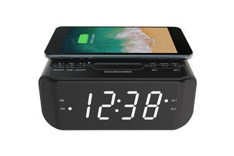 Lenoxx Wireless Charging Clock Radio (CRW25)