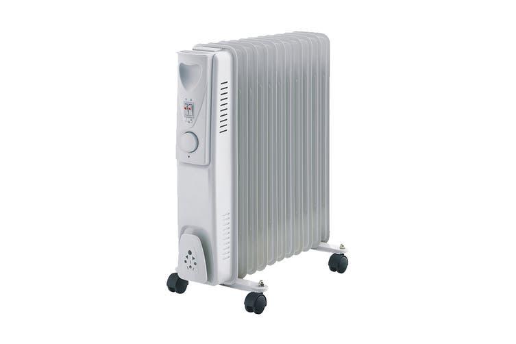Lenoxx 2400W 11 Fin Oil Heater with 3 Heat Settings (H200)