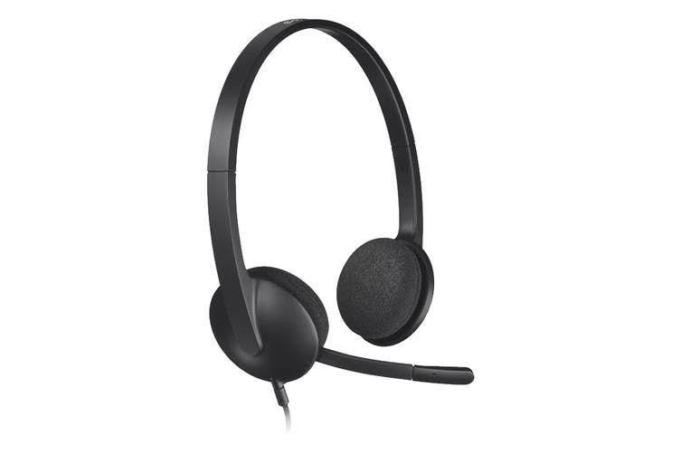 Logitech H340 USB Computer Headset with Noise-Cancelling Microphone