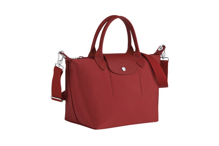 Longchamp Le Pliage Neo Top-Handle Tote Handbag (Medium, Red)