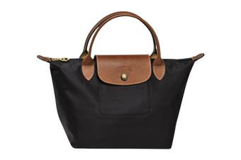 Longchamp Le Pliage Top-Handle Handbag (Small, Black)