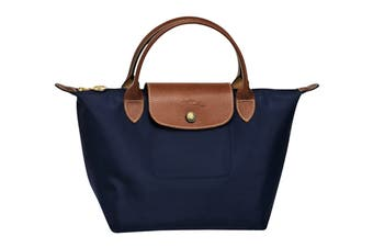 Longchamp Le Pliage Top-Handle Handbag (Small, Navy)