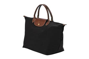 Longchamp Le Pliage Top-Handle Handbag (Medium, Black)