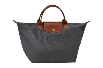 Longchamp Le Pliage Top-Handle Handbag (Medium, Gun Metal)