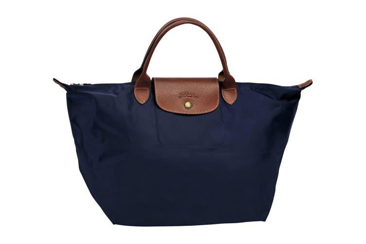 Longchamp Le Pliage Top-Handle Handbag (Medium, Navy)