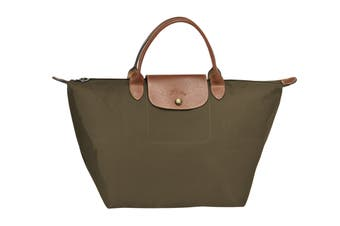 Longchamp Le Pliage Top-Handle Handbag (Medium, Khaki)