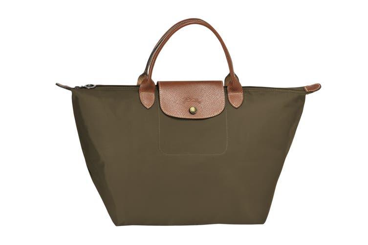 Longchamp Le Pliage Top-Handle Handbag (Medium, Khaki)
