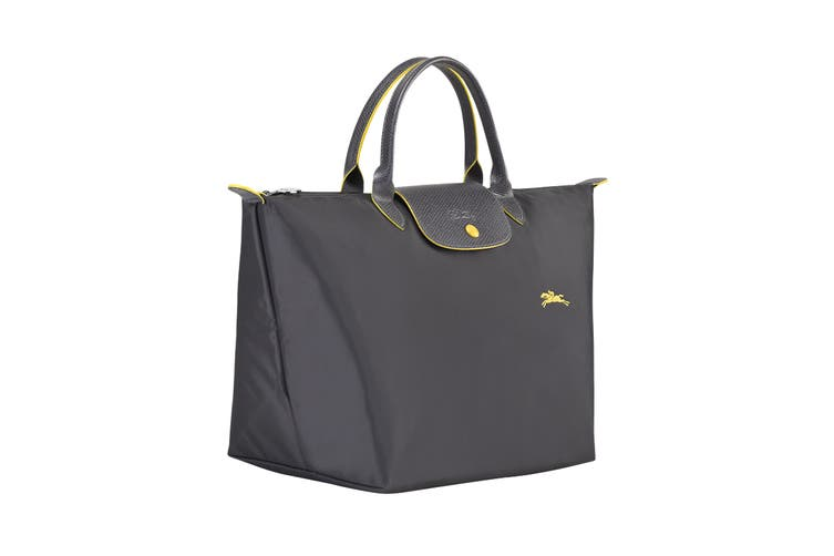 Longchamp Le Pliage Club Top-Handle Tote Handbag (Medium, Gun Metal)