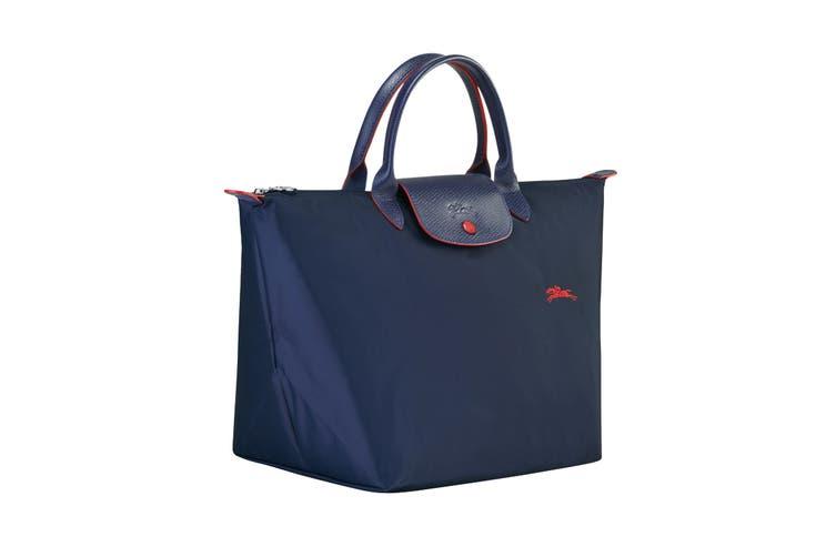 Longchamp Le Pliage Club Top-Handle Tote Handbag (Medium, Navy)