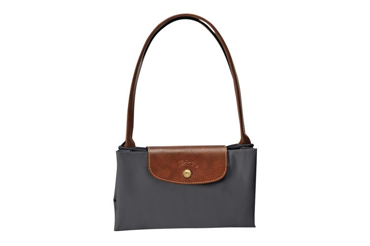 Longchamp Le Pliage Tote Bag (Large, Gun Metal)