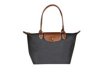 Longchamp Le Pliage Tote Bag (Small, Gun Metal)
