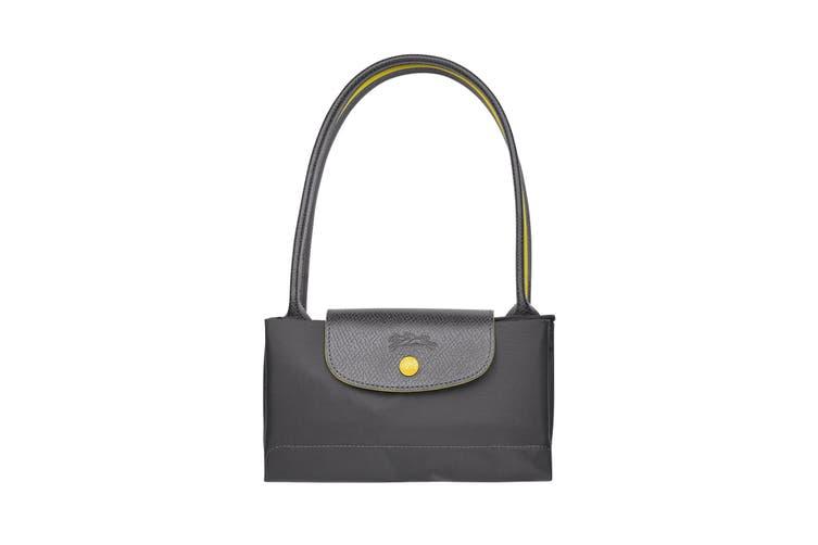 Longchamp Le Pliage Club Tote Handbag (Small, Gun Metal)