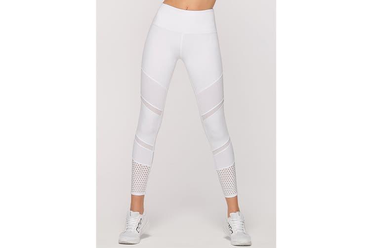 Lorna Jane Women's Ivory Booty Support Leggings (White, M)