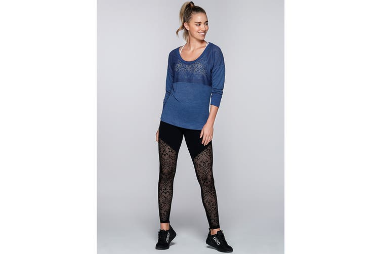 Lorna Jane Women's Harper Long Sleeve Top (Indigo, L)