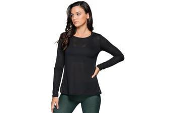 Lorna Jane Women's Post Barre Long Sleeve Top (Black)