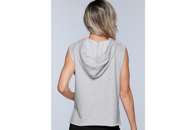 Lorna Jane Women's LJ Athletic Sleeveless Jacket (Light Grey Marl, XL)