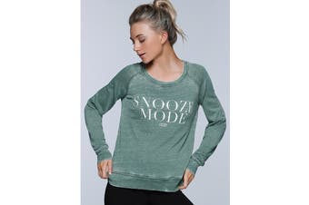 Lorna Jane Women's Snooze Mode Sweat Top (Light Khaki)