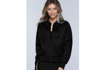Lorna Jane Women's Off Duty Mesh Bomber (Black)