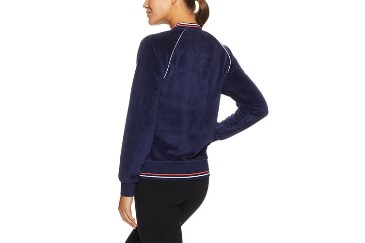 Lorna Jane Women's Luxe Lounge Bomber Top (Ink, Size M)