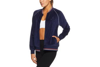 Lorna Jane Women's Luxe Lounge Bomber Top (Ink)