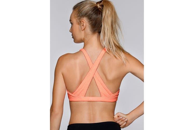 Lorna Jane Women's Cindy Sports Bra (Neon Peach Melba, Size XS)