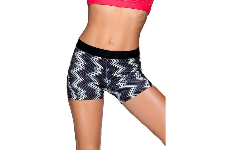 Lorna Jane Women's Zigzag Shorts (Black/White, Size XS)