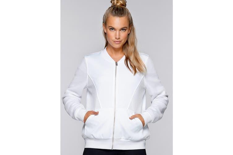 Lorna Jane Women's Take The Leap Jacket (White, S)