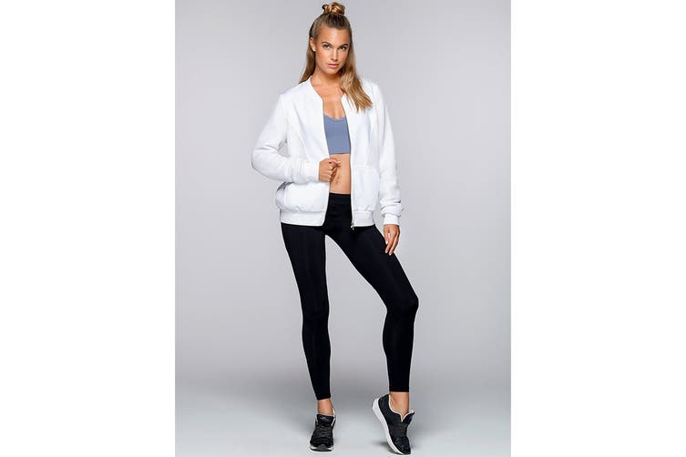 Lorna Jane Women's Take The Leap Jacket (White, XS)
