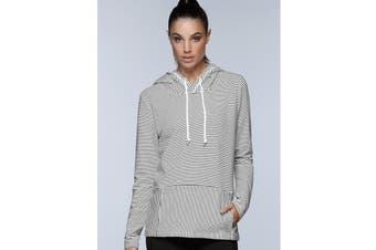 Lorna Jane Women's Everyday Active Long Sleeve Jacket (Black/White Stripe)