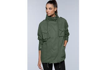 Lorna Jane Women's Quick Dry Funnel Neck Jacket (Light Khaki)