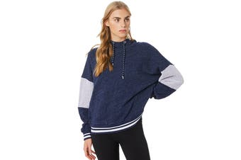 Lorna Jane Women's Rory Hoodie Jacket (Ink Marl/White)