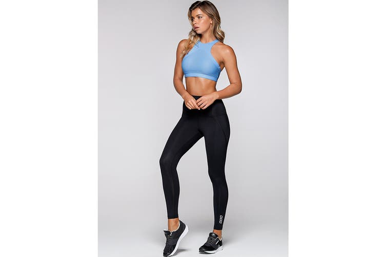 Lorna Jane Women's Complete Comfort F/L Leggings (Black, XL)