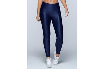Lorna Jane Women's Metallic Core F/L Leggings (Ink)